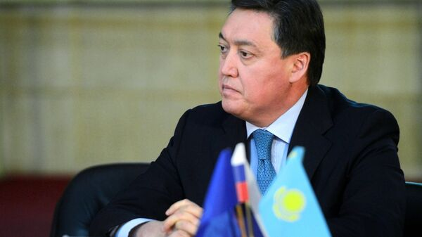 Первый заместитель премьера Казахстана Аскар Мамин. 13 июня 2017