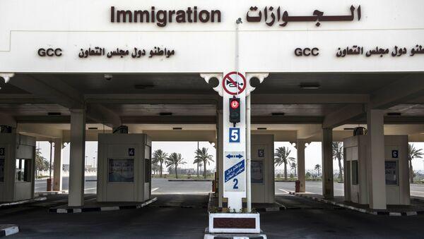 Пропускной пункт на закрытой границе между Катаром и Саудовской Аравией