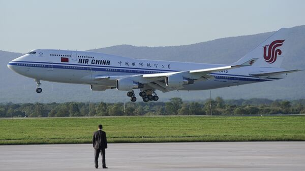 Самолет авиакомпании Air China в аэропорту Владивостока