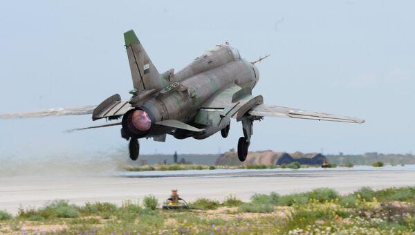 Истребитель сирийских военно-воздушных сил. Архивное фото