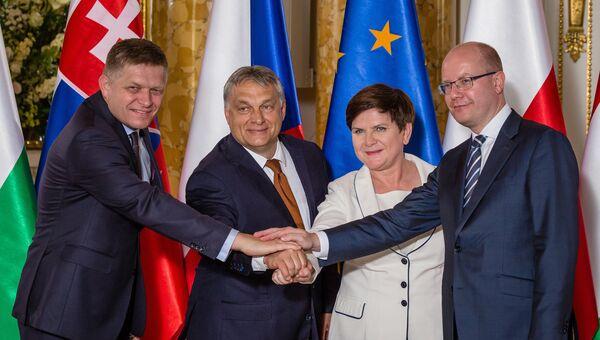 Встреча глав стран Вышеградской четверки в Варшаве. 19 июня 2017