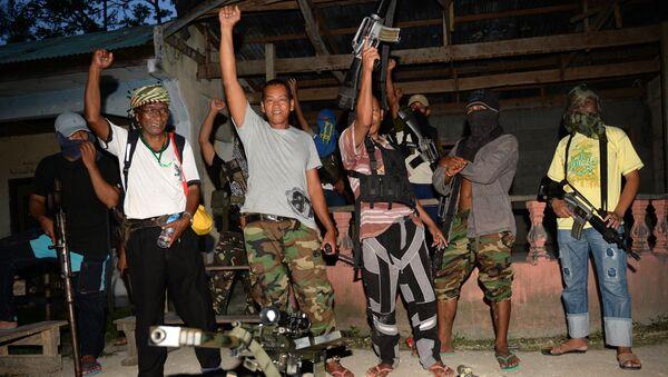 Исламская организация, действующая на острове Минданао на Филиппинах Бойцы исламского освобождения Бангсаморо. Архивное фото