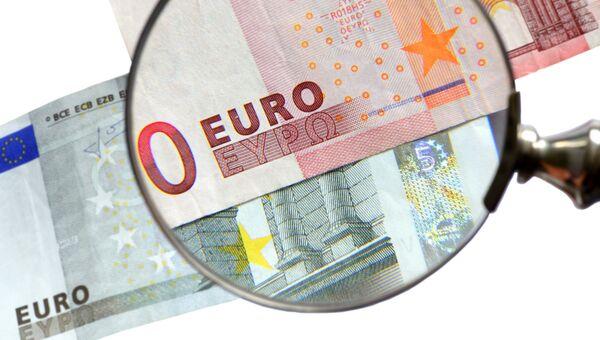 Банкноты европейской валюты. Архивное фото