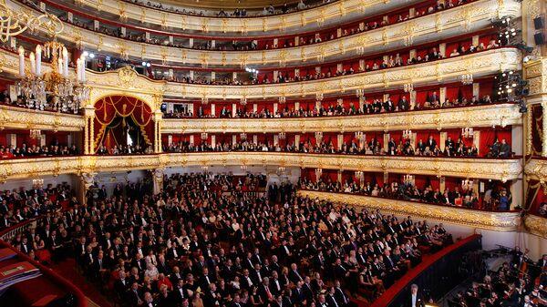 Зрительный зал Большого театра в Москве. Архивное фото