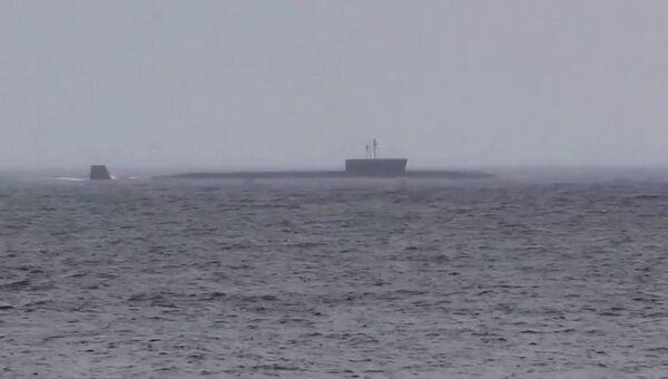 Головной корабль проекта 955 Борей - подводный крейсер Юрий Долгорукий. 26 июня 2017