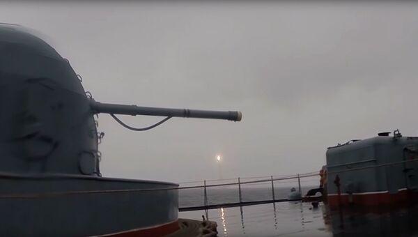 Пуск баллистической ракеты Булава с подводного крейсера Юрий Долгорукий. 26 июня 2017