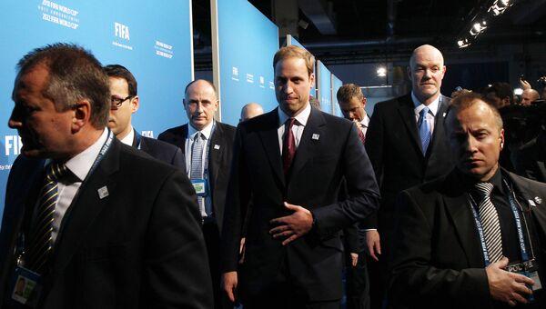 Принц Уильям во время объявления стран-хозяек ЧМ-2018 и ЧМ-2022. 2010 год