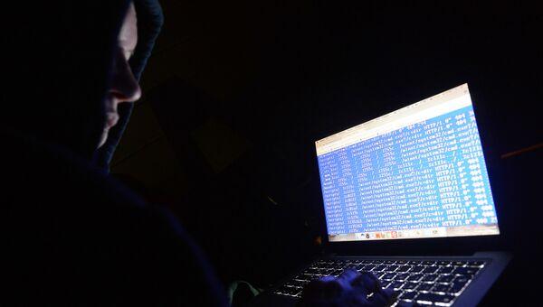 Работа хакера. Архивное фото