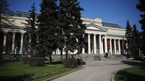 Здание Государственного музея изобразительных искусств имени А.С. Пушкина. Архивное фото