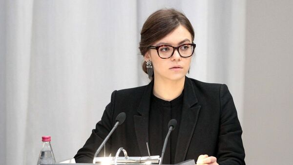 Замминистра МВД Украины Анастасия Деева. Архивное фото