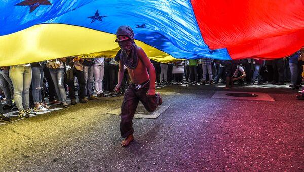 Протесты в Каракасе. Архивное фото