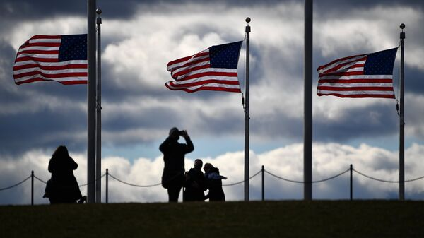 Флаги США в Вашингтоне. Архивное фото