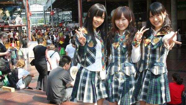 Девушки из Японии. Архивное фото
