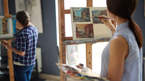 Занятие в школе искусств