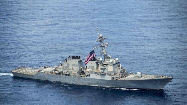 Американский эсминец USS Stethem в Южно-Китайском море