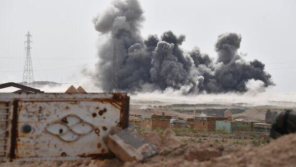 Удар Военно-космических сил России по позициям ИГ (запрещенная на территории РФ международная террористическая организация Исламское Государство) в Сирии