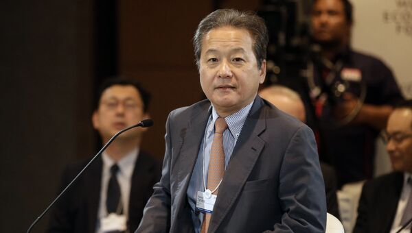 Вице-президент и исполнительный директор Hitachi Ясуо Танабе. Архивное фото