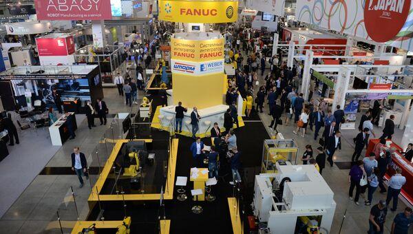 Стенды в экспозиции на 8-й Международной промышленной выставке Иннопром - 2017 в международном выставочном центре Екатеринбург-ЭКСПО