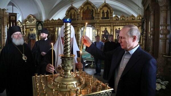 Рабочая поездка президента РФ В. Путина в Республику Карелия (Валаам)