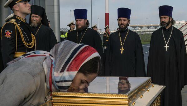 Встреча ковчега с мощами святителя Николая Чудотворца в аэропорту Пулково в Санкт-Петербурге