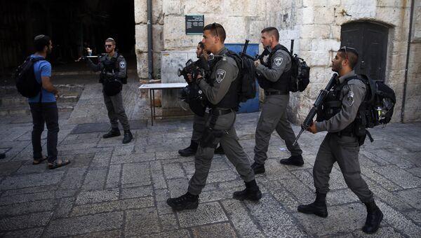 Сотрудники пограничной охраны Израиля. Архивное фото