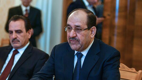 Вице-президент Ирака Нури аль-Малики перед началом встречи с Сергеем Лавровым. 24 июля 2017