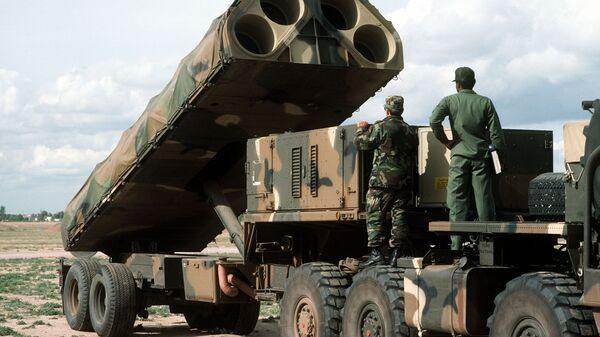 Американский ракетный комплекс средней дальности BGM-109G Gryphon. Архивное фото