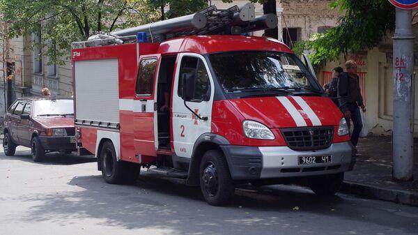 Пожарная машина в Киеве. Архивное фото