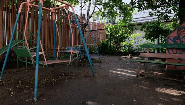 Детская площадка в СИЗО Москвы до ремонта