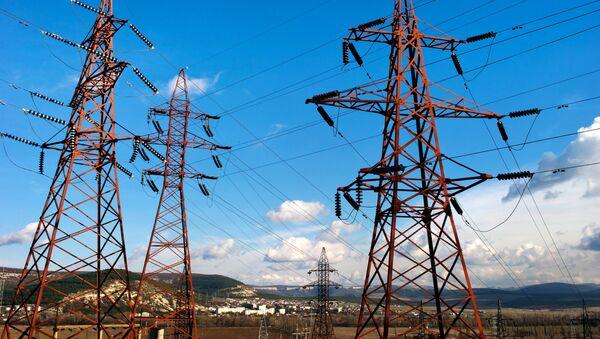 Высоковольтные электролинии в Крыму