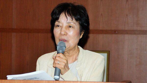 Рейко Ямада на конференции Токийской федерации организаций людей, пострадавших от ядерных взрывов