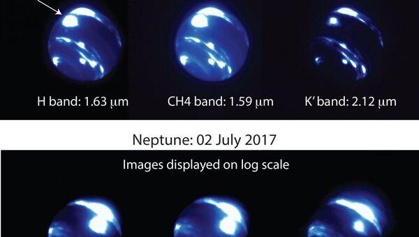 Новый гигантский ураган, возникший на поверхности Нептуна в июле этого года