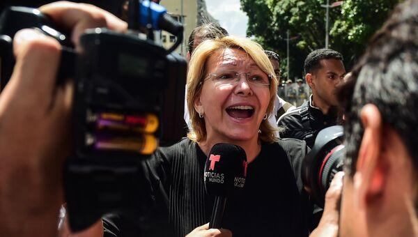 Главный прокурор Венесуэлы Луиза Ортега в Каракасе. Архивное фото