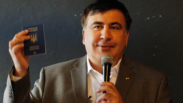 Михаил Саакашвили в Варшаве