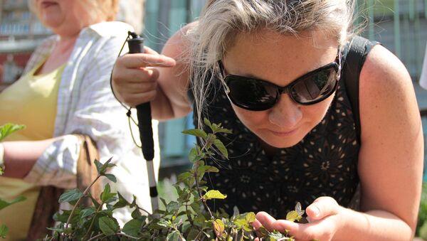В Аптекарском огороде открылся сенсорный сад для слепоглухих
