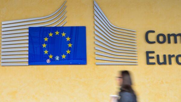 Логотип Евросоюза на здании штаб-квартиры Европейского парламента в Брюсселе. Архивное фото