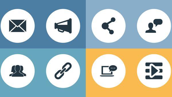 Набор простых интернет иконок