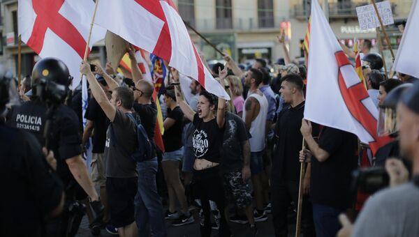 Митинг ультраправых активистов в Барселоне. 18 августа 2017