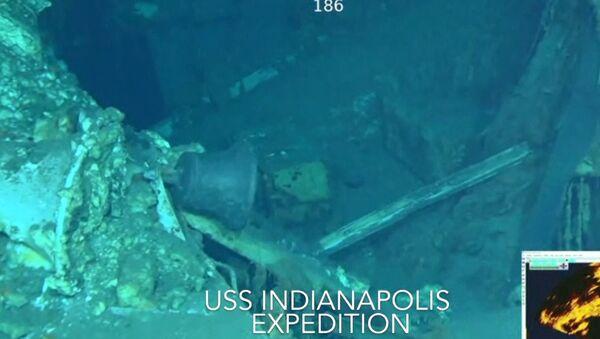Найденные в Тихом океане обломки крейсера Индианаполис. Подводная съемка