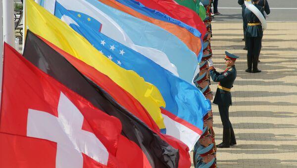 Подготовка к открытию международного военно-технического форума Армия-2017