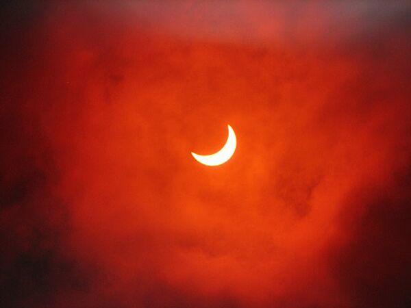 Солнечное затмение в Южноуральске Челябинской обл