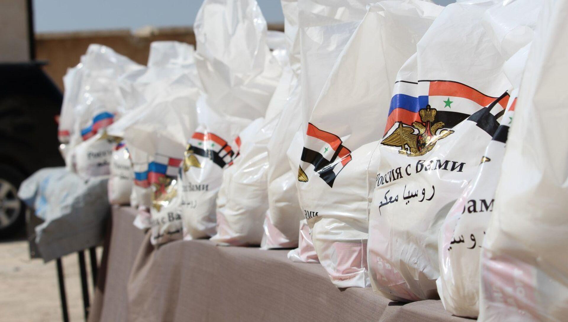 Гуманитарная помощь жителям поселения Арран на севере-востоке Алеппо - РИА Новости, 1920, 14.06.2021