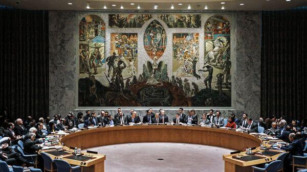 Зал заседаний Совета Безопасности ООН в Нью-Йорк