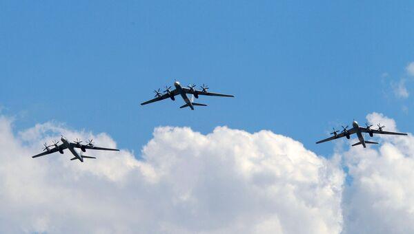 Самолеты Ту-95МС. Архивное фото