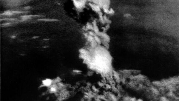 Взрыв атомной бомбы над Хиросимой 6 августа 1945 года. Архив