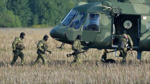 Белорусские военные во время учений