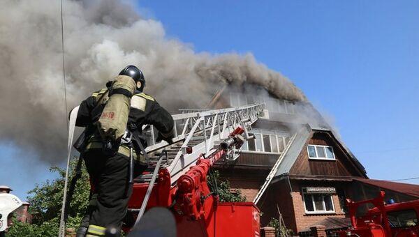 Пожар в доме престарелых Жемчужина в Красноярске. 28 августа 2017