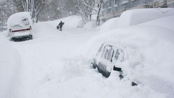 На Камчатке не прекращается снегопад. Архив