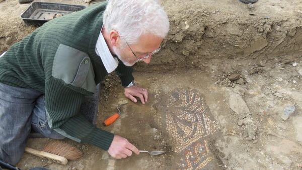 Мозаика, найденная в Боксфорде