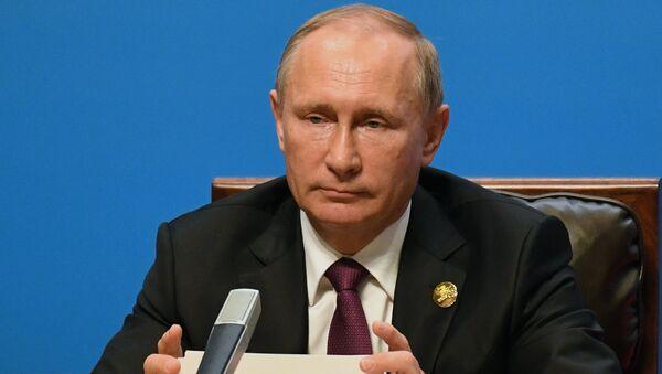 Президент РФ Владимир Путин во время встречи лидеров БРИКС. Архивное фото